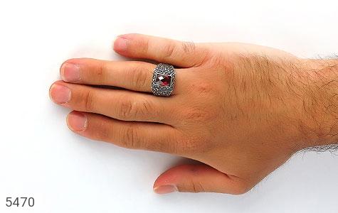 انگشتر مارکازیت یاقوت سرخ اتمی ترک مردانه - تصویر 8