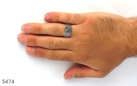 انگشتر مارکازیت طرح ورساچه ترک مردانه - عکس 7