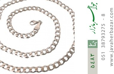 زنجیر نقره سنگین و درشت مردانه - کد 5483