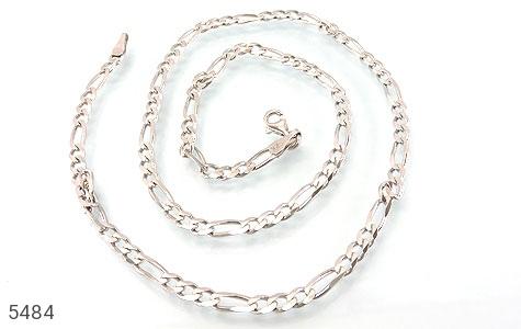 زنجیر نقره درشت 52 سانتی مردانه - عکس 1