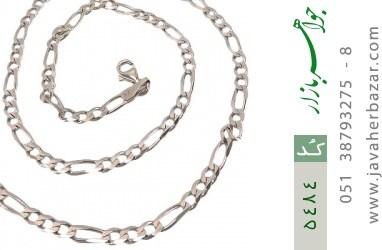 زنجیر نقره درشت 52 سانتی مردانه - کد 5484