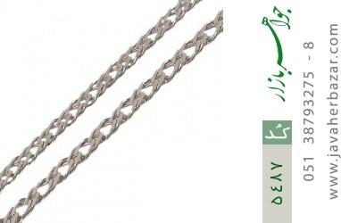 زنجیر نقره سنگین و درشت مردانه - کد 5487