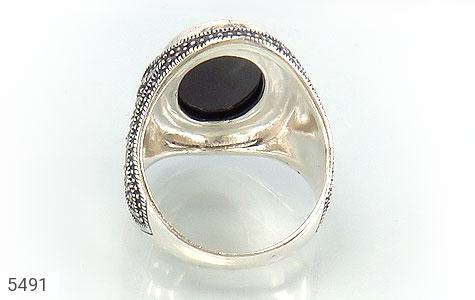 انگشتر نقره درشت و باشکوه مردانه - عکس 3