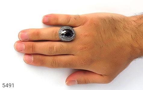 انگشتر نقره درشت و باشکوه مردانه - عکس 7