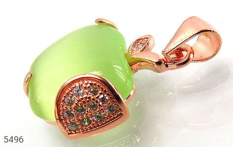 مدال چشم گربه طرح سیب سبز زنانه - عکس 1