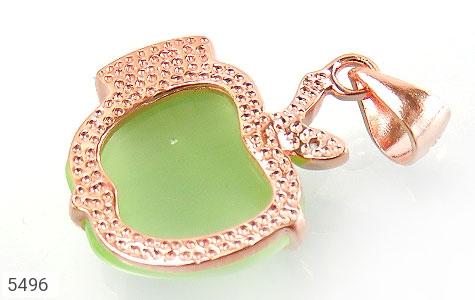 مدال چشم گربه طرح سیب سبز زنانه - تصویر 2