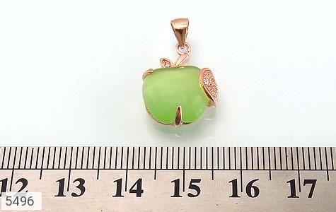 مدال چشم گربه طرح سیب سبز زنانه - تصویر 4