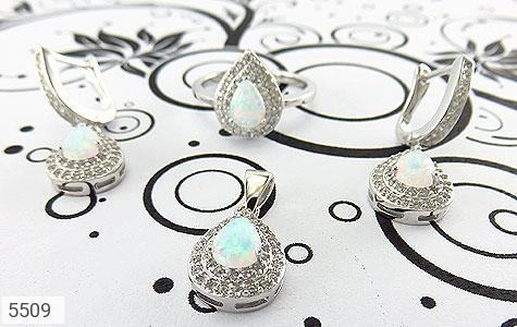 سرویس نقره اپال سفید سنتاتیک طرح اشکی زنانه - عکس 7