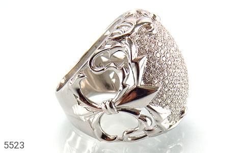 انگشتر نقره باشکوه و درشت زنانه - تصویر 2