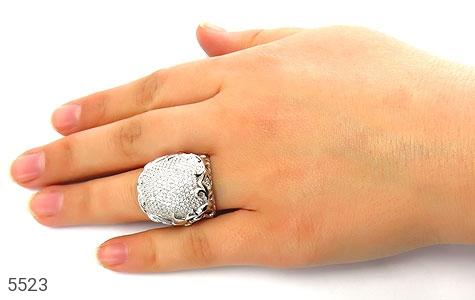 انگشتر نقره باشکوه و درشت زنانه - عکس 7
