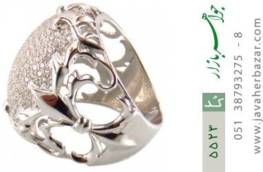 انگشتر نقره باشکوه و درشت زنانه - کد 5523