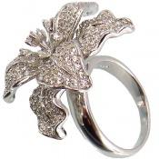 انگشتر نقره گل سلطنتی زنانه