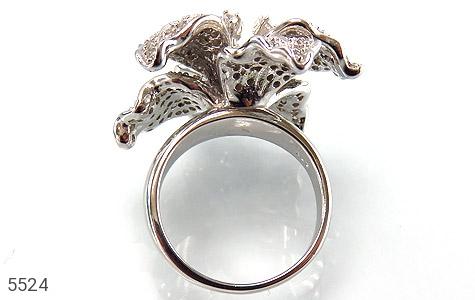 انگشتر نقره گل سلطنتی زنانه - تصویر 2