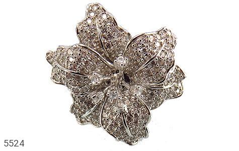 انگشتر نقره گل سلطنتی زنانه - عکس 3