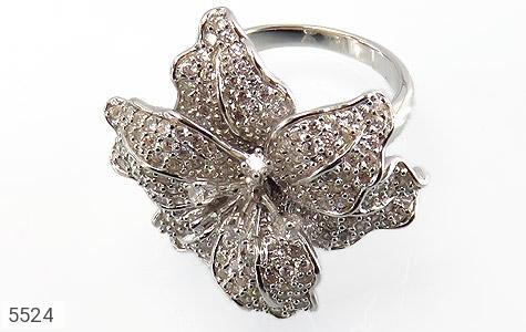 انگشتر نقره گل سلطنتی زنانه - تصویر 4