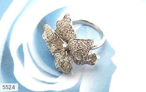انگشتر نقره گل سلطنتی زنانه - عکس 5