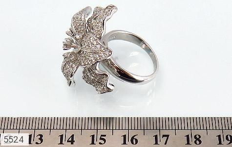 انگشتر نقره گل سلطنتی زنانه - عکس 7