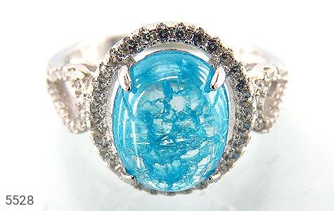 انگشتر نقره اپال سنتاتیک آبی زنانه - تصویر 2