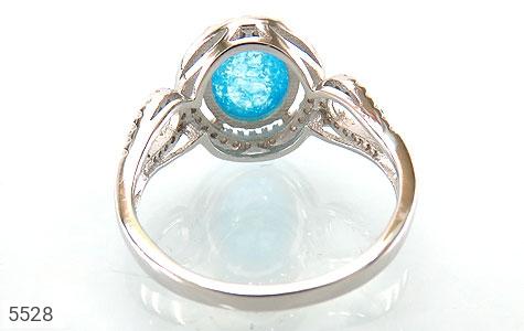 انگشتر نقره اپال سنتاتیک آبی زنانه - عکس 3
