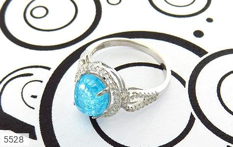 انگشتر نقره اپال سنتاتیک آبی زنانه - تصویر 4