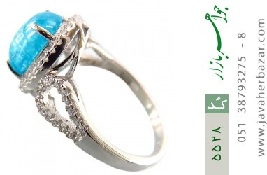 انگشتر نقره اپال سنتاتیک آبی زنانه - کد 5528