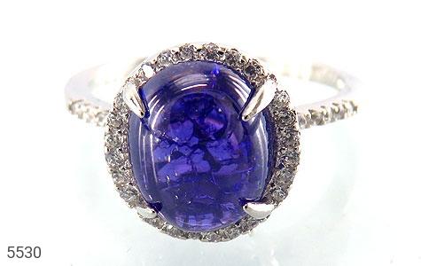 انگشتر نقره اپال آبی سنتاتیک زنانه - عکس 3