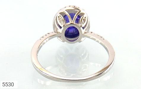 انگشتر نقره اپال آبی سنتاتیک زنانه - تصویر 4