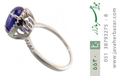 انگشتر نقره اپال آبی سنتاتیک زنانه - کد 5530