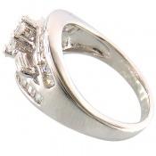 انگشتر نقره سولیتر جواهرنشان زنانه