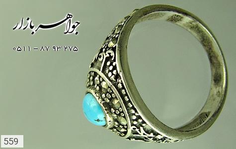 انگشتر نقره قلم زنی الله محمد علی - عکس 3