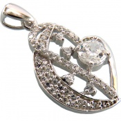 مدال نقره برلیان اتمی زنانه