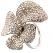 انگشتر نقره طرح گل سلطنتی زنانه