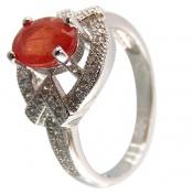 انگشتر یاقوت قرمز خوش رنگ زنانه