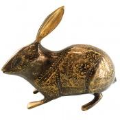 تندیس برنج دست ساز طرح خرگوش متوسط