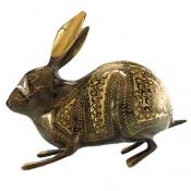 تندیس برنج دست ساز طرح خرگوش بزرگ