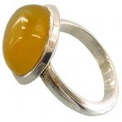 انگشتر عقیق زرد شرف الشمس صفوی دست ساز
