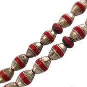 تسبیح نقره و مرجان و یسر سوپر 33 دانه دست ساز مصری