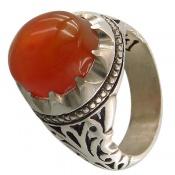 انگشتر عقیق یمن شرف الشمس درشت دست ساز مردانه