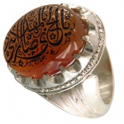 انگشتر عقیق یمنی شرف الشمس دست ساز فاخر مردانه