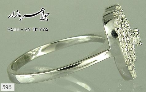 انگشتر نقره برلیان اتمی طرح قلب زنانه - تصویر 2