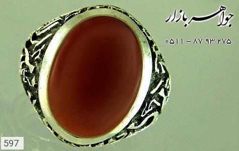 انگشتر عقیق قلم زنی امیری حسین و نعم الامیر هنر دست استاد قلمزنیخاص - تصویر 4