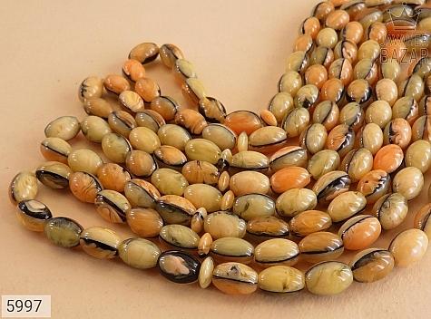تسبیح 33 دانه پودر کهربا زیبا و خوشبو - عکس 3