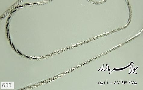 زنجیر نقره ایتالیایی - عکس 3