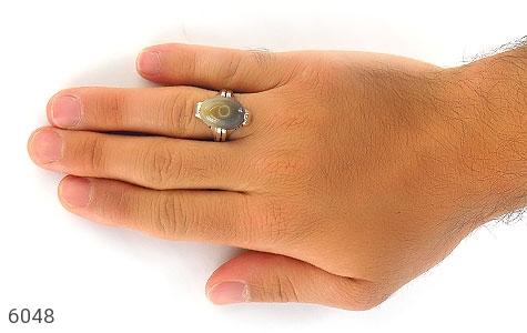 انگشتر عقیق باباقوری طبیعی هندی مردانه - تصویر 6