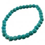 دستبند فیروزه تبتی خوش رنگ زنانه