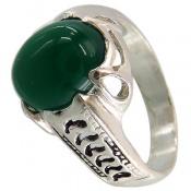 انگشتر عقیق سبز خوش رنگ مردانه