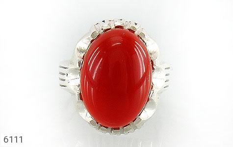 انگشتر عقیق سرخ درشت مردانه - تصویر 2