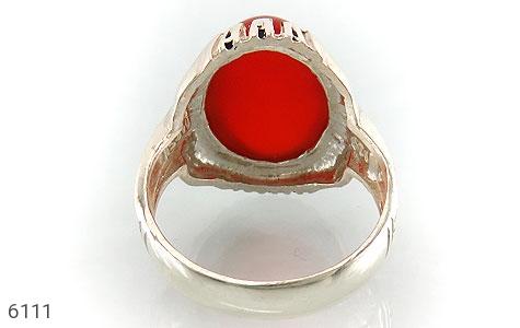 انگشتر عقیق سرخ درشت مردانه - عکس 3