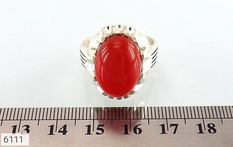 انگشتر عقیق سرخ درشت مردانه - تصویر 4