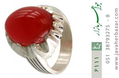 انگشتر عقیق سرخ درشت مردانه - کد 6111
